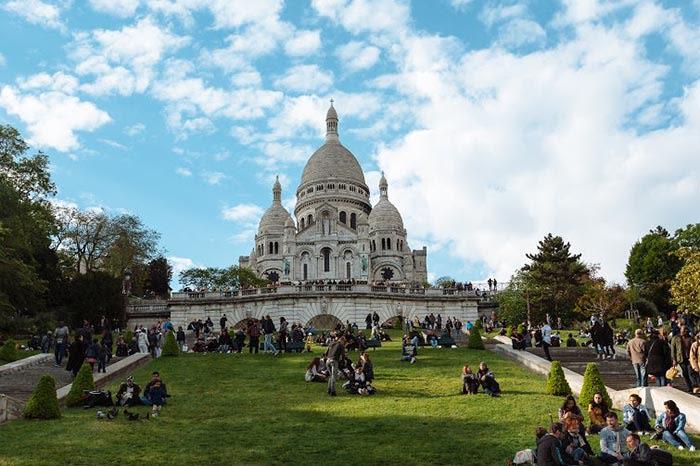 catedral de sacre coeur en montmartre paris