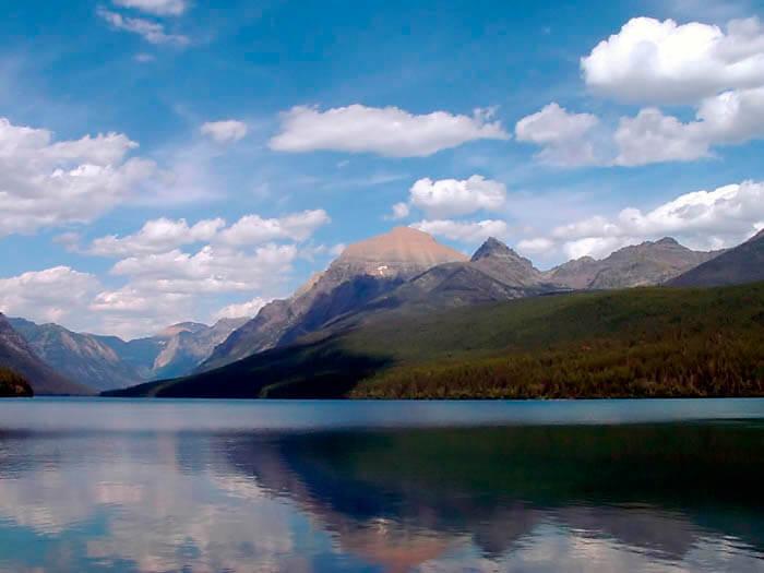 Parque de los Glaciares en Montana estados unidos