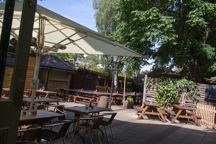 Edinboro Castle beer garden