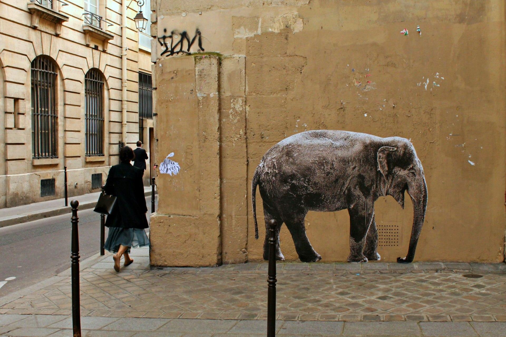 street art, Le Marais, Parigi