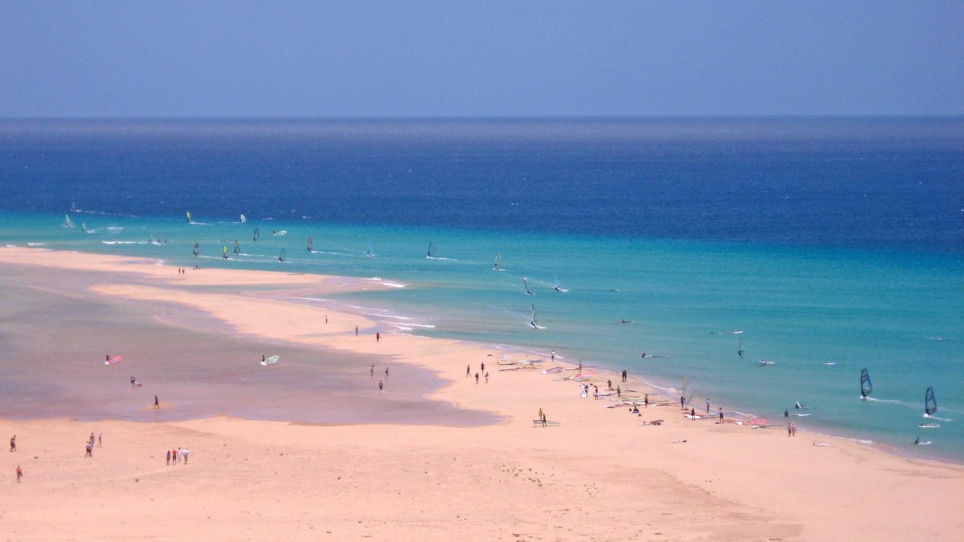 Playa de la Barca en Fuerteventura canarias