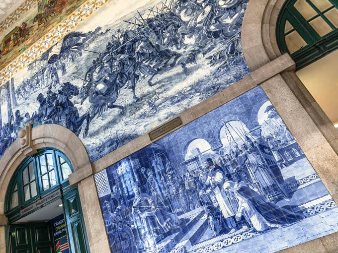 Qué ver en Oporto: Estación de São Bento en oporto