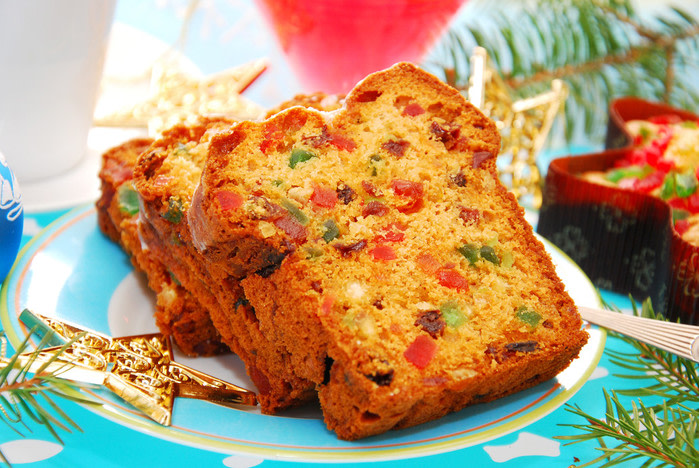 Comida típica de Navidad : Pastel de frutas