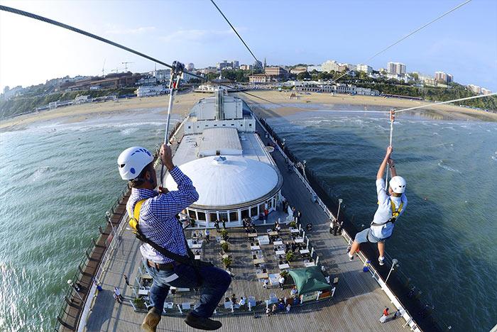 Bournemouth PierZip. Image via Tourism South East