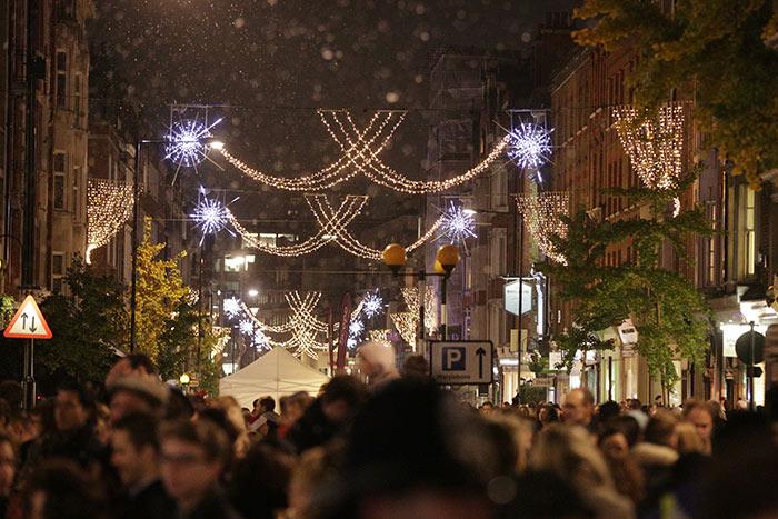 Londres: Marylebone iluminado en Navidad