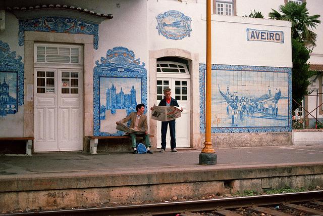 La stazione ferroviaria di Aveiro, foto di Gerrigje Engelen su Flickr