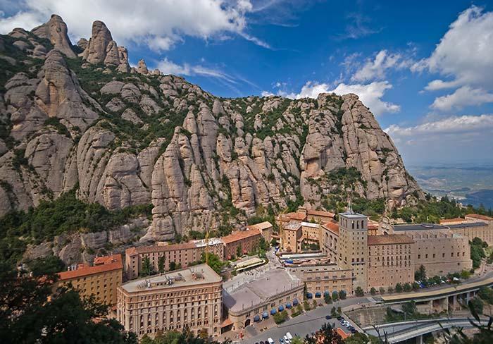 View of Montserrat Benedictine monastery
