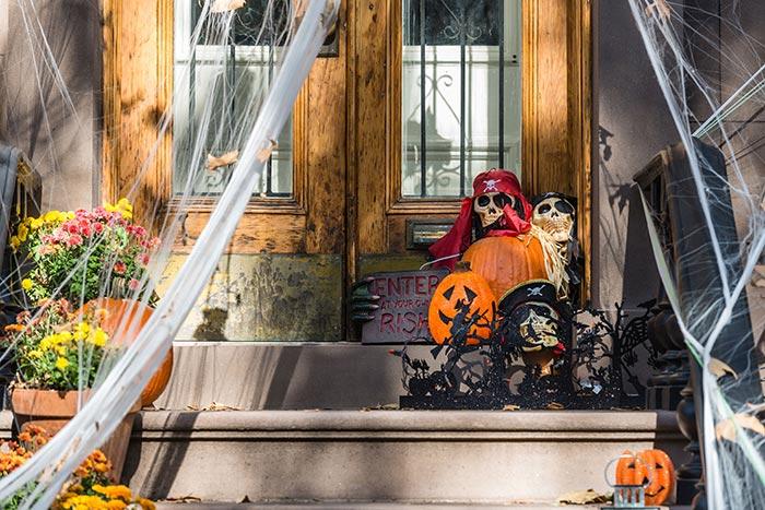 Halloween en España: Casa decorada