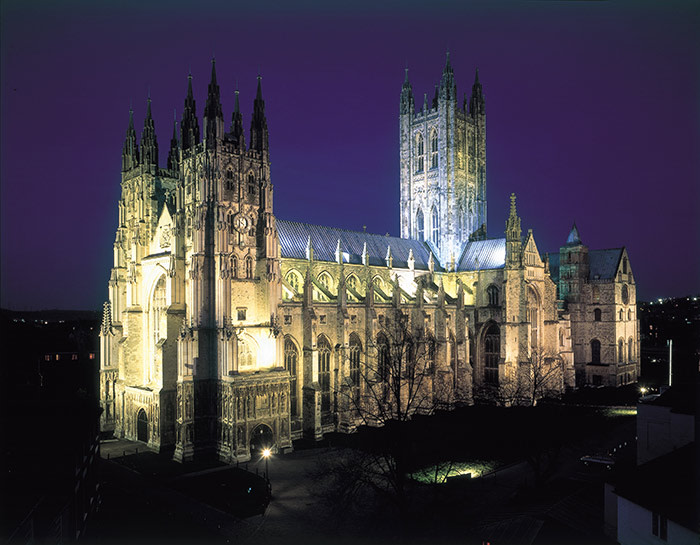 Canterbury Cathedral at night © Canterbury Cathedral