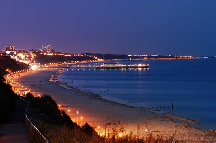 View from Alum Chine of Bournemouth Pier. VisitEngland & Bournemouth Tourism