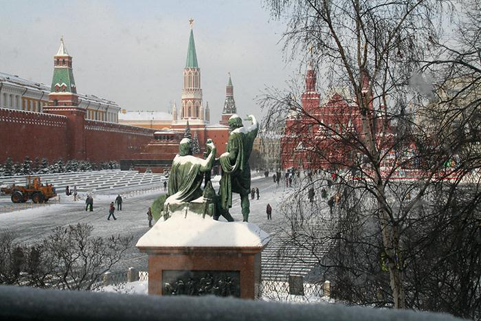 Moscú en invierno: Plaza Roja