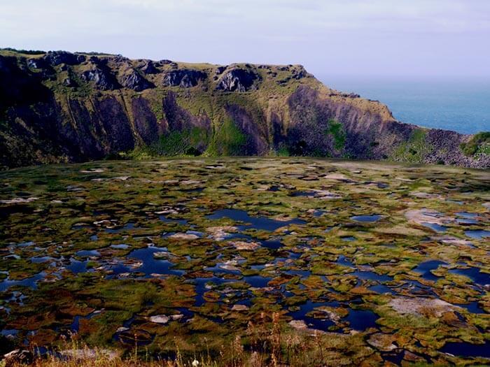 paisaje isla de pascua rano kao