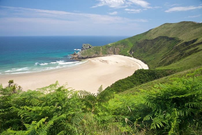 Playas nudistas: playa torimbia en llanes
