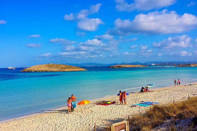 Playa de Illetes, en Formentera islas baleares