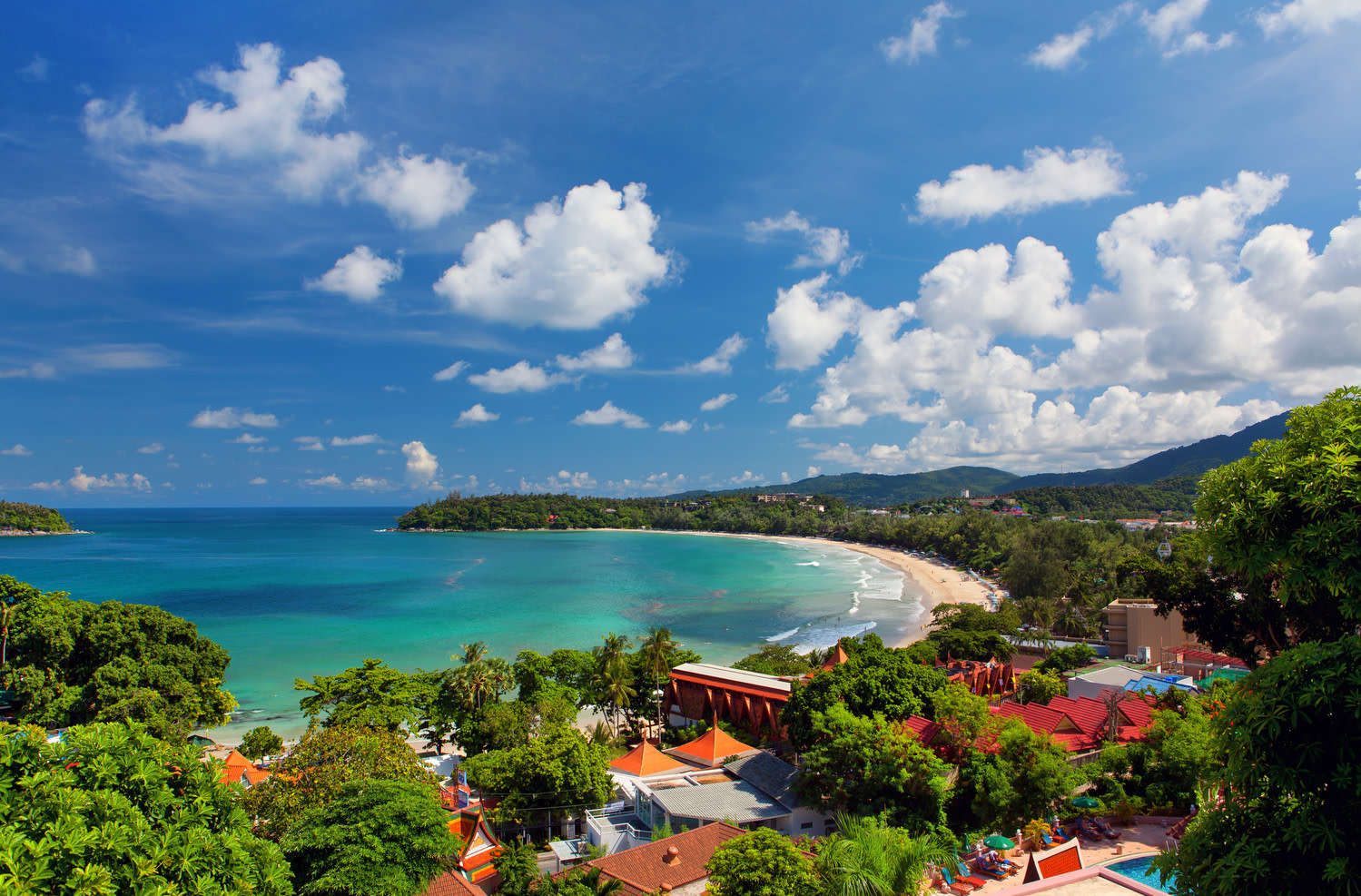 Climat - Vue sur la plage Kata à Phuket
