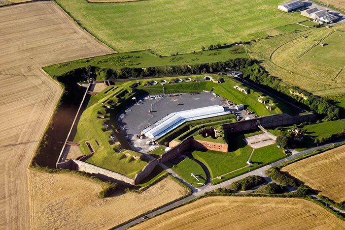 Fort Nelson from above (c) Royal Armouries