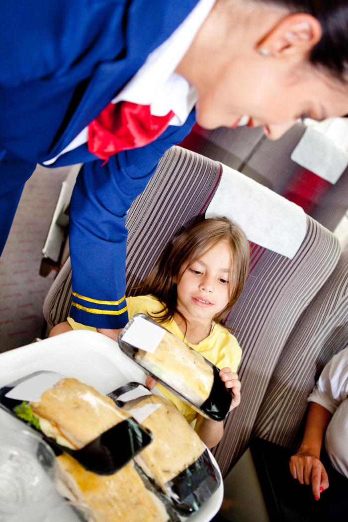 comida en avion