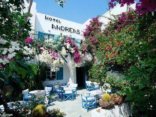 Urlaub Kamari im Hotel Andreas