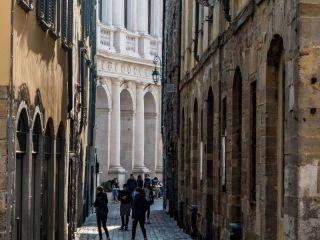 Bergamo im Piazza Vecchia