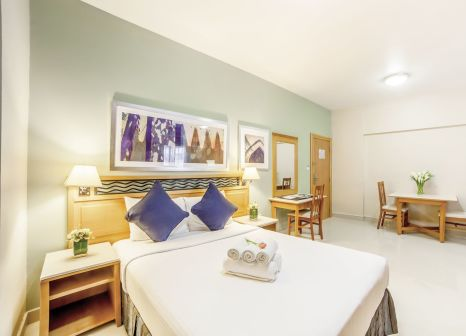 Hotelzimmer mit Golf im Golden Sands Hotel Apartments