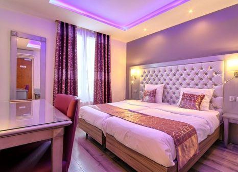 Hotelzimmer mit Restaurant im Hôtel Mirific