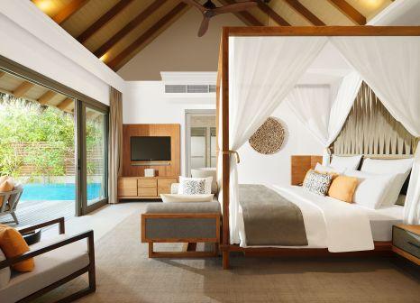 Hotelzimmer mit Volleyball im Vakkaru Maldives
