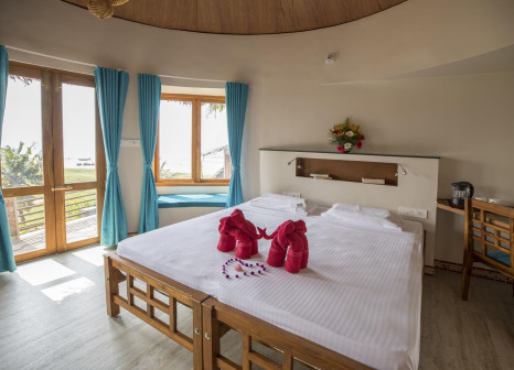 Hotelzimmer mit Sandstrand im Somatheeram Ayurvedic Health Resort