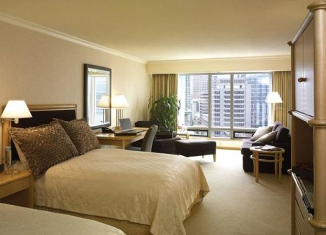 Hotelzimmer mit Mountainbike im Pan Pacific Vancouver