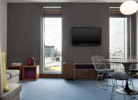 Hotelzimmer mit Animationsprogramm im Aloft London Excel
