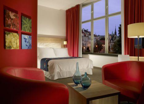 Hotelzimmer mit Mountainbike im Hermitage Hotel Prague