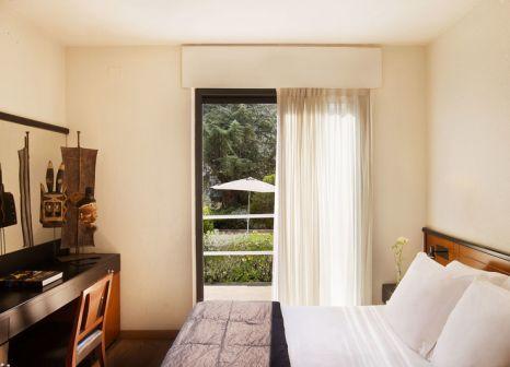 Hotelzimmer mit Mountainbike im Hotel Balmes
