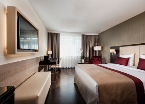 Hotelzimmer mit Mountainbike im Wyndham Grand Salzburg Conference Centre