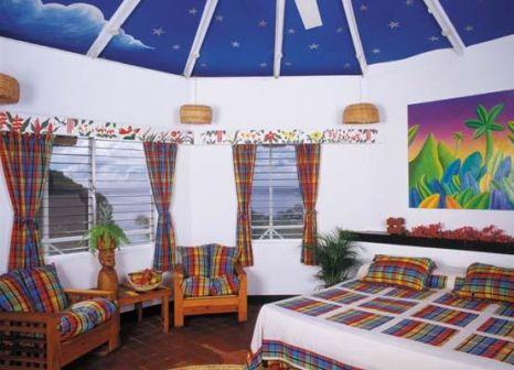 Hotelzimmer mit Mountainbike im Anse Chastanet
