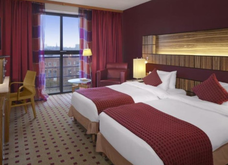 Hotelzimmer mit Mountainbike im Radisson Blu Hotel, Belfast
