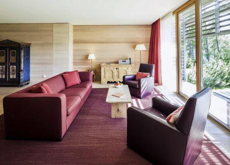 Hotelzimmer mit Mountainbike im Vigilius Mountain Resort