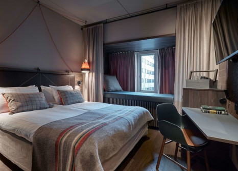 Hotelzimmer mit Mountainbike im Downtown Camper by Scandic
