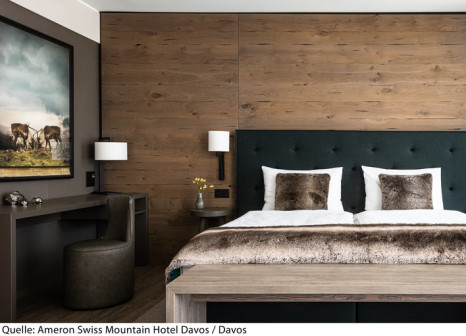 Hotelzimmer mit Golf im AMERON Davos Swiss Mountain Resort