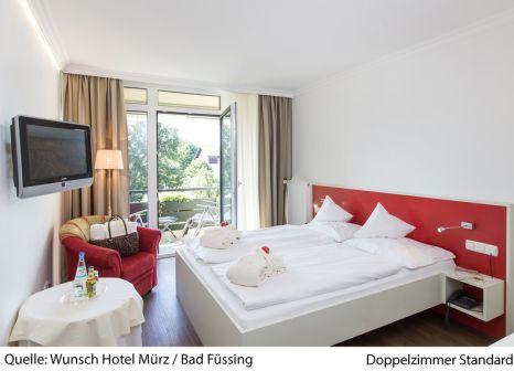Hotelzimmer mit Mountainbike im Wunsch-Hotel Mürz