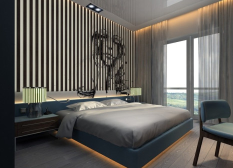 Hotelzimmer mit Yoga im Glamour Resort & Spa