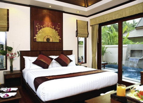 Hotelzimmer mit Paddeln im Kanok Buri Resort