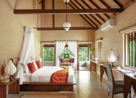 Hotelzimmer mit Mountainbike im Jetwing Vil Uyana