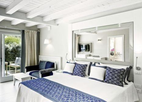 Hotelzimmer mit Mountainbike im Hotel Bouganville