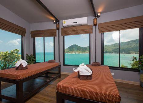 Hotelzimmer mit Mountainbike im Panviman Resort Koh Phangan