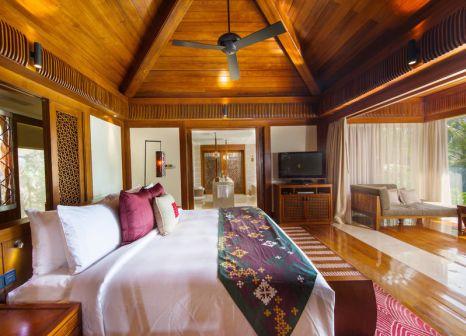 Hotelzimmer mit Volleyball im Mandarin Oriental Sanya