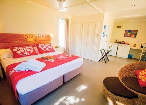 Hotelzimmer mit Mountainbike im Manuia Beach Resort