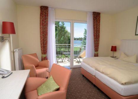 Hotelzimmer mit Tischtennis im Strandhaus am Inselsee