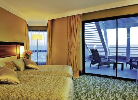 Hotelzimmer mit Volleyball im Susesi Luxury Resort