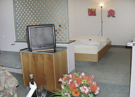 Hotelzimmer mit Spielplatz im GreenLine Landhotel Henkenhof
