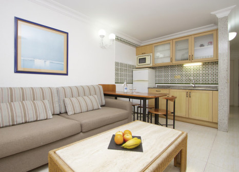 Hotelzimmer mit Golf im Apartamentos Fariones
