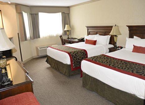 Hotelzimmer mit Mountainbike im Banff Royal Canadian